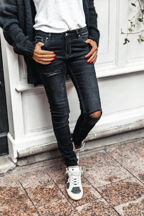 JEANS GM HOLE ANTHRACITE